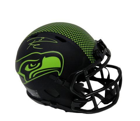 Russell Wilson Seattle Seahawks Signed Mini Eclipse Helmet RS Holo MillCreek COA