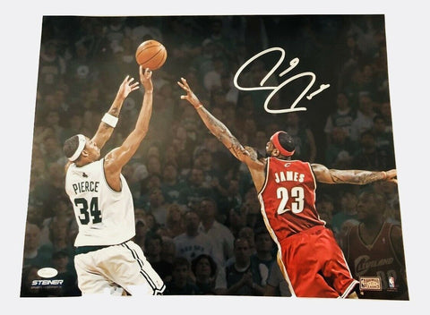 Paul Pierce Boston Celtics Signed Autographed vs LeBron James 16x20 Photo JSA