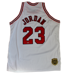 Michael Jordan Chicago Bulls LE #/23 Signed Mitchell & Ness White Jersey UDA