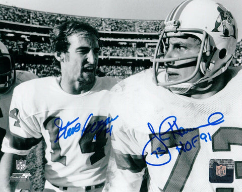 Steve Grogan/John Hannah New England Patriots Signed Autographed 8x10 Photo