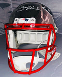 Julian Edelman New England Patriots Signed Chrome Full Replica Helmet JSA