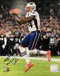 Mohammed Sanu New England Patriots Signed 8x10 Photo Color 1st TD JSA