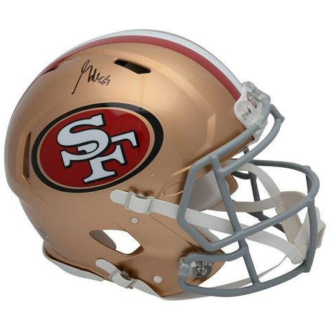 George Kittle San Francisco 49ers Signed Full Size Replica Speed Helmet BAS
