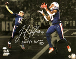 Josh Gordon New England Patriots Signed LE #/50 Tom Brady 500th TD Photo JSA