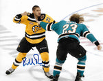 Bobby Robins Providence Boston Bruins Signed Autographed Fight 8x10 Photo
