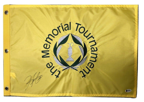 Hideki Matuyama Signed Autographed Memorial Tournament Flag BECKETT
