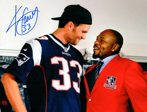 Kevin Faulk New England Patriots Signed Autographed 8x10 Photo Tom Brady