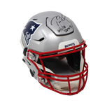 Tom Brady New England Patriots Signed Speed Flex Helmet 500th TD Insc Tristar