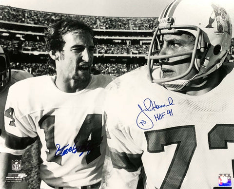 Steve Grogan John Hannah New England Patriots Signed Autographed 16x20 Photo