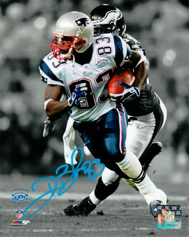 Deion Branch New England Patriots Signed Autographed Spotlight 8x10 SB XXXIX