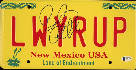 Bob Odenkirk Signed Better Call Saul Breaking Bad Auto LWYRUP License Plate BAS