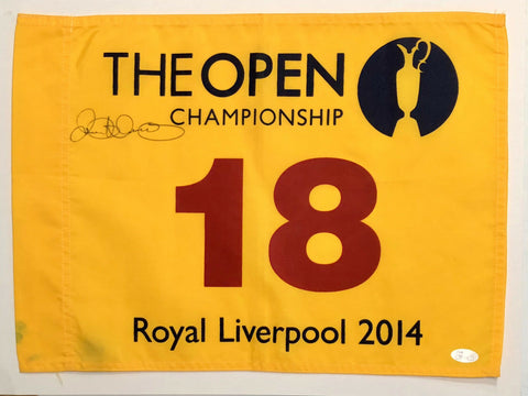 Rory McIlroy Signed Autographed 2014 British Open Flag JSA