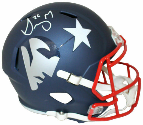 Sony Michel New England Patriots Signed Full Size Replica AMP Helmet JSA