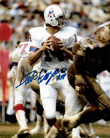 Steve Grogan New England Patriots Signed Autographed 8x10 Photo