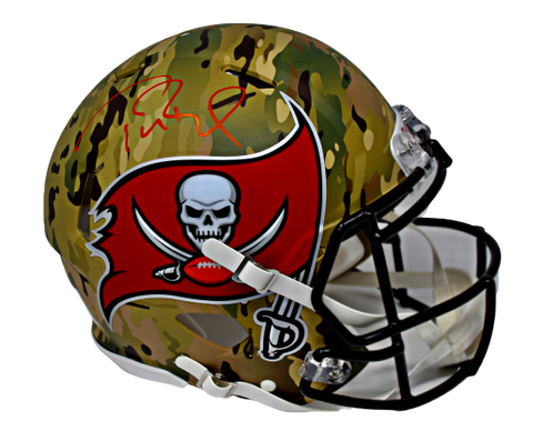 Tom Brady Tampa Bay Buccaneers Signed Camo Speed Authentic Helmet Fanatics
