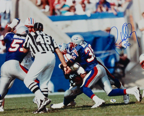 Lawyer Milloy New England Patriots Signed 16x20 Photo Vintage Pats Alumni