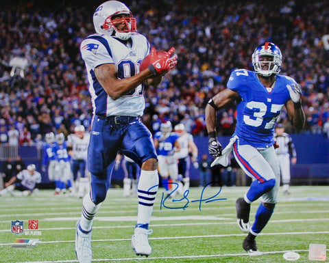 Randy Moss New England Patriots Signed 16x20 Photo Record Breaking TD JSA