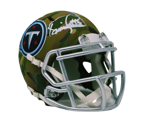 Derrick Henry Tennessee Titans Signed Authentic Camo Mini Helmet BAS Beckett