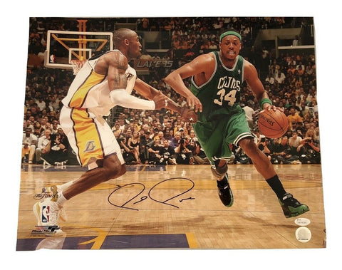 Paul Pierce Boston Celtics Signed Autographed vs Kobe Bryant 16x20 Photo JSA