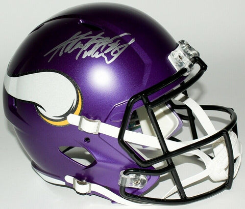 Adrian Peterson Minnesota Vikings Signed Full Size Replica Speed Helmet JSA