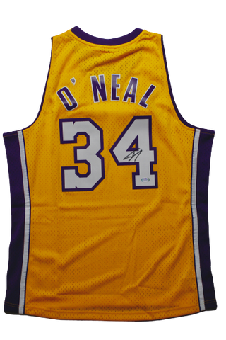 Shaquille O'Neal Los Angeles Lakers Signed HWC Mitchell & Ness Jersey Shaq PSA