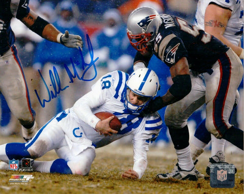 Willie McGinest New England Patriots Signed Autographed 8x10 Photo Pats Alumni