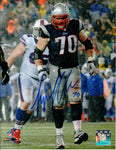 Logan Mankins New England Patriots Signed Autographed 8x10 Photo