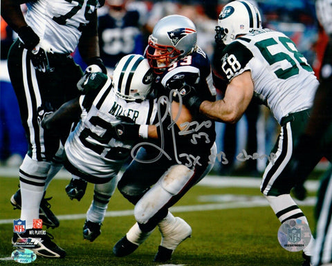 Larry Izzo New England Patriots Signed Autographed 8x10 Photo 3x Ins Pats Alumni