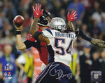 Dont'a Hightower New England Patriots Signed Autographed SB Sack 16x20 Photo