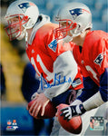 Drew Bledsoe New England Patriots Signed Autographed with Tom Brady 8x10 Photo
