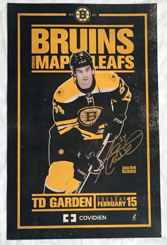 Adam McQuaid Boston Bruins Signed Autographed 2011 Game Day Poster 11x17