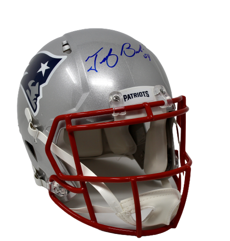 Tedy Bruschi New England Patriots Signed Full Size Speed Authentic Helmet PA