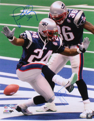 Ty Law Lawyer Milloy New England Patriots Signed Autographed 16x20 Photo