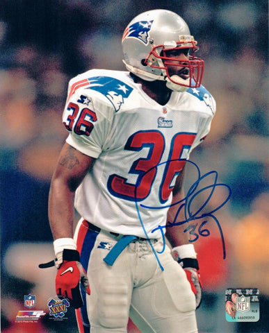 Lawyer Milloy New England Patriots Signed 8x10 Photo SB 31 Pats Alumni