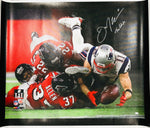 Julian Edelman New England Patriots Signed SB LI The Catch 40x50 Canvas JSA