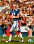 Drew Bledsoe New England Patriots Signed Autographed Blue Jersey 16x20 Photo