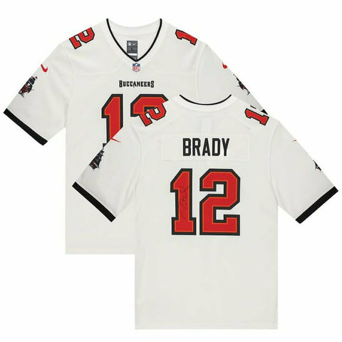 Tom Brady Tampa Bay Buccaneers Signed Autograph Nike White Jersey Fanatics