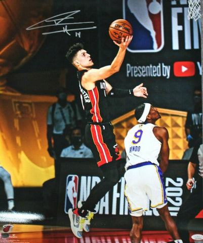 Tyler Herro Miami Heat Signed 16x20 Photo NBA Finals vs Lakers Layup JSA