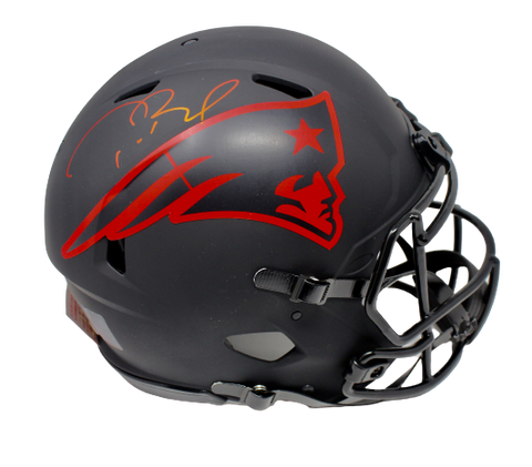 Tom Brady New England Patriots Signed Eclipse Speed Authentic Helmet Fanatics