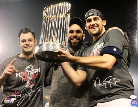 Joe Kelly Nathan Eovaldi Boston Red Sox Signed World Series 16x20 Photo JSA