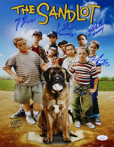 The Sandlot Movie Cast Signed 11x14 Photo 6 Signatures- Squints, Smalls+ JSA
