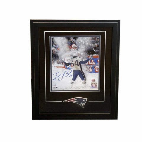 Tedy Bruschi New England Patriots Signed Autographed 8x10 Photo Framed