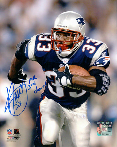 Kevin Faulk New England Patriots Signed Autographed 8x10 Photo Mr. 3rd Down