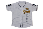 The Sandlot Movie Cast Signed Custom Baseball Jersey 6 Signatures JSA