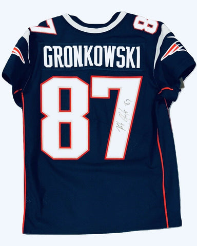 Rob Gronkowski New England Patriots Signed Autographed Nike Elite Jersey JSA