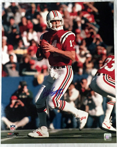 Steve Grogan New England Patriots Signed Autographed 16x20 Photo