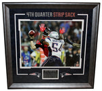 Dont'a Hightower New England Patriots Signed Autographed SB Sack 16x20 Framed