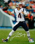 Jarrett Stidham New England Patriots Signed 8x10 Photo Rookie Passing JSA