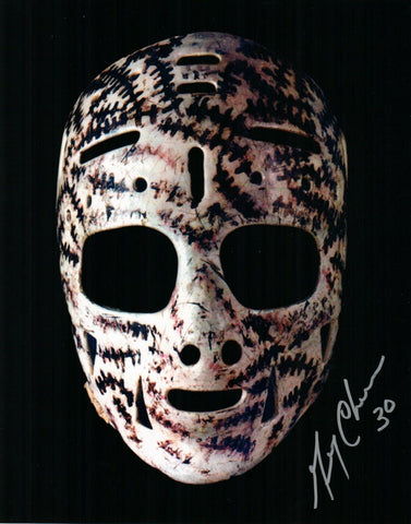 Gerry Cheevers Boston Bruins Signed 8x10 Photo The Mask Goalie JSA