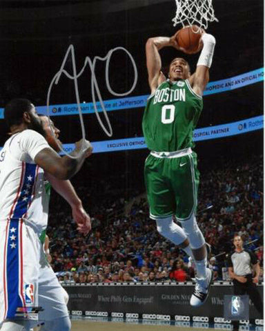 Jayson Tatum Boston Celtics Signed Autographed Dunk 16x20 Photo